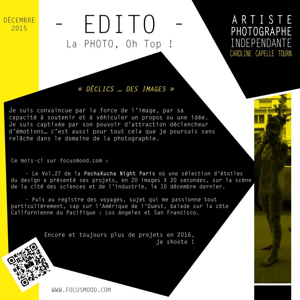 EDITO DEC. 2015 - DECLICS … DES IMAGES