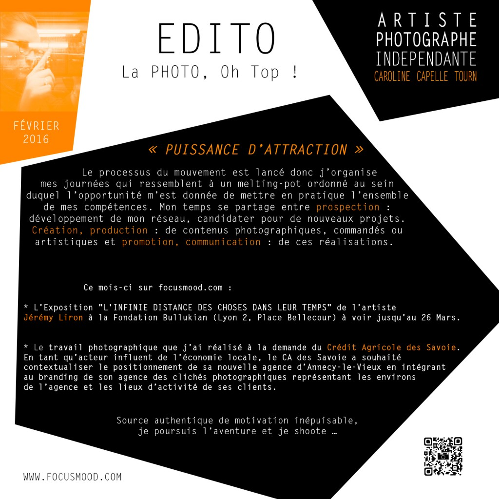 EDITO FEV. 2016 - PUISSANCE D'ATTRACTION
