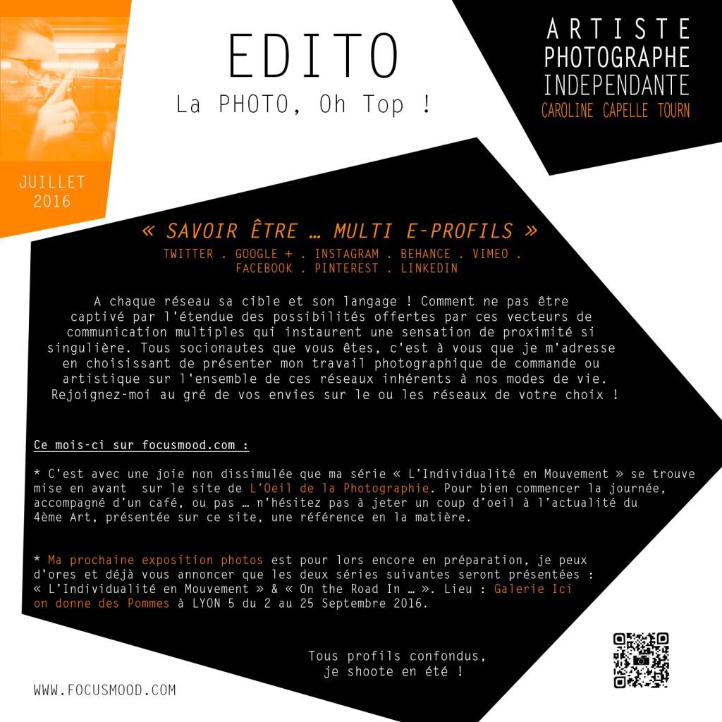 EDITO JUILLET 2016 - SAVOIR ETRE … MULTI E-PROFILS