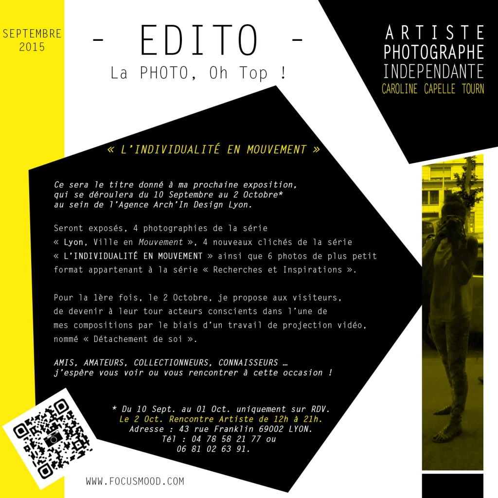 EDITO SEPT. 2015 - L'INDIVIDUALITE EN MOUVEMENT